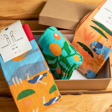 Socken Box: Safari in der Savanne macht einfach gute Laune.