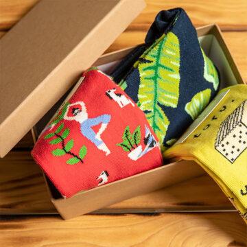 Socken Box: Wellness für zu Hause mit Yoga, Bananenbrot & Co.