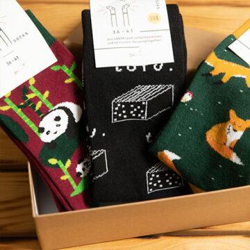 Socken Box: Kung Fu Fighting. Franzis Lieblingsbox aus Gründen.